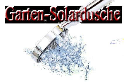 Gartendusche, Solardusche