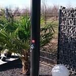 Solardusche 40 Liter WelaSol® Gartendusche 2,20 m mit Wellness Duschkopf